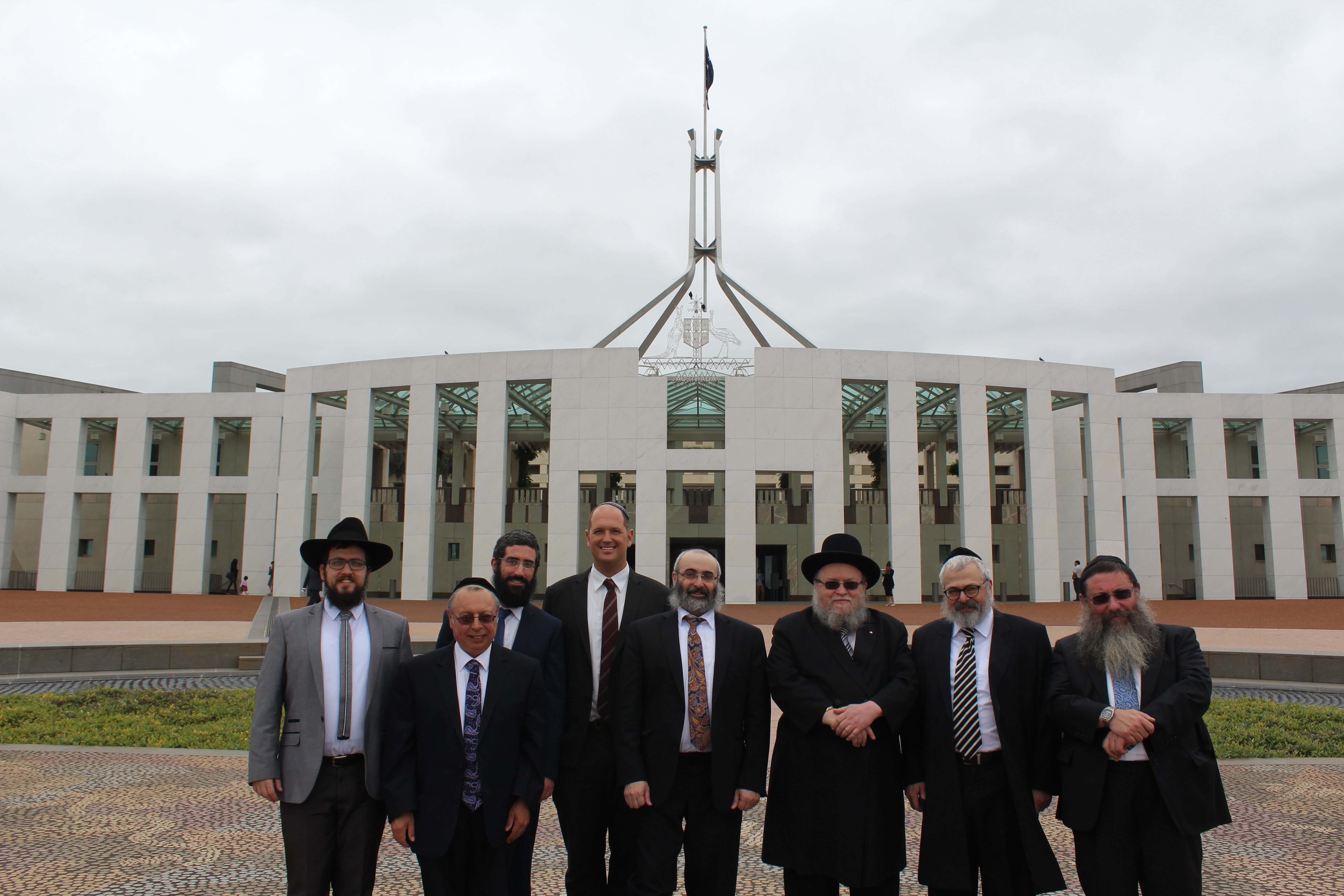 Rabbi's Group Photo Outside Parliament House copy 2.jpg